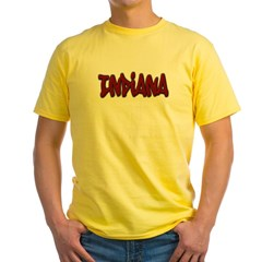 Indiana Graffiti Yellow T-Shirt