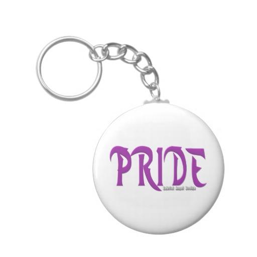 Pride Logo Basic Button Keychain