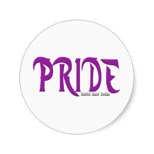 Pride Logo Classic Round Sticker