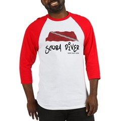 Scuba Diver Waves Baseball Jersey