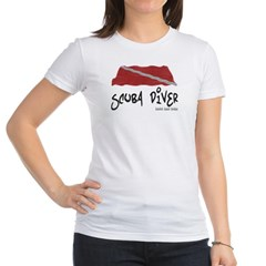 Scuba Diver Waves Jr. Jersey T-Shirt