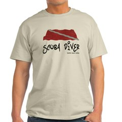 Scuba Diver Waves Light T-Shirt