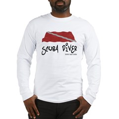 Scuba Diver Waves Long Sleeve T-Shirt