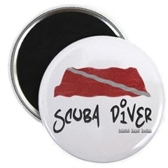 Scuba Diver Waves Magnet