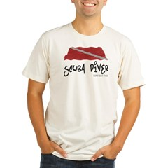 Scuba Diver Waves Organic Cotton Tee