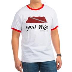 Scuba Diver Waves Ringer T