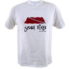 Scuba Diver Waves Value T-shirt