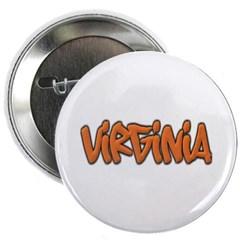 """Virginia Graffiti 2.25"""" Button"""