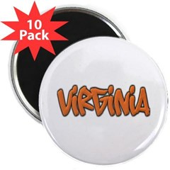 """Virginia Graffiti 2.25"""" Magnet (10 pack)"""