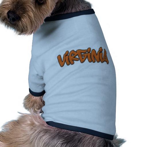 Virginia Graffiti Doggie Ringer T-Shirt