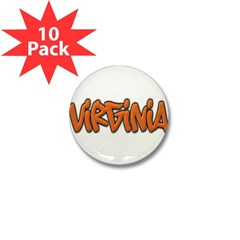 Virginia Graffiti Mini Button (10 pack)