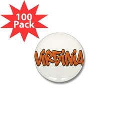 Virginia Graffiti Mini Button (100 pack)