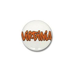 Virginia Graffiti Mini Button