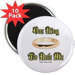 "One Ring 2.25"" Magnet (10 pack)"