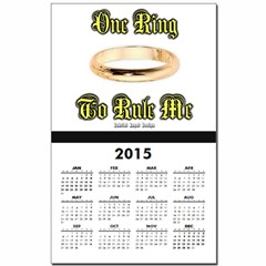 One Ring Calendar Print