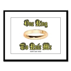 One Ring Large Framed Print