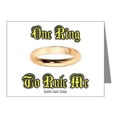 One Ring Note Cards (Pk of 20)
