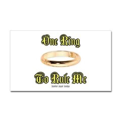 One Ring Rectangle Decal
