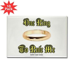 One Ring Rectangle Magnet (10 pack)