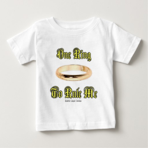 One Ring to Rule Me Baby Fine Jersey T-Shirt