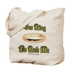 One Ring to Rule Me Canvas Tote Bag