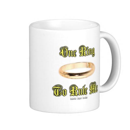 One Ring to Rule Me Classic White Mug