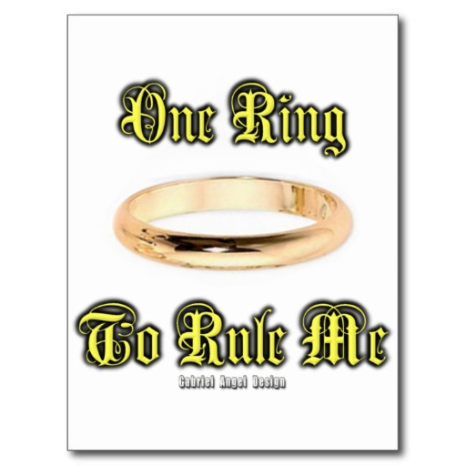 One Ring to Rule Me Postcard