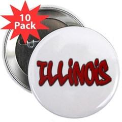 "Illinois Graffiti 2.25"" Button (10 pack)"