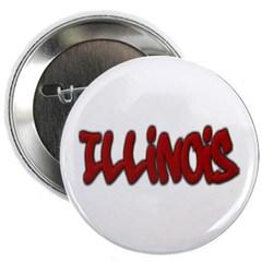 """Illinois Graffiti 2.25"""" Button"""
