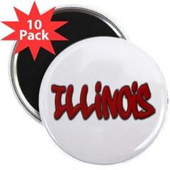 "Illinois Graffiti 2.25"" Magnet (10 pack)"