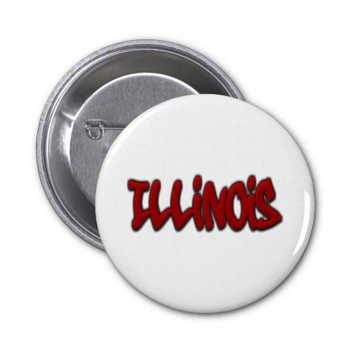 Illinois Graffiti 2 Inch Round Button