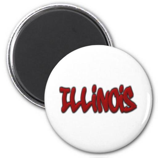 Illinois Graffiti 2 Inch Round Magnet