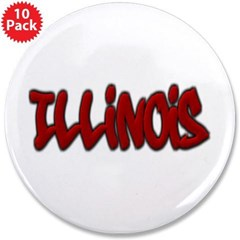 "Illinois Graffiti 3.5"" Button (10 pack)"