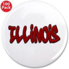 "Illinois Graffiti 3.5"" Button (100 pack)"