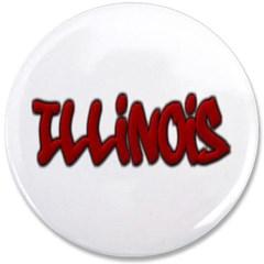 """Illinois Graffiti 3.5"""" Button"""