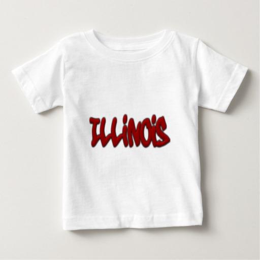 Illinois Graffiti Baby Fine Jersey T-Shirt
