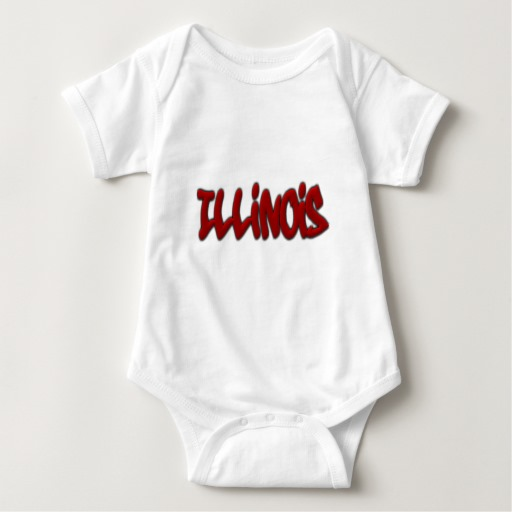 Illinois Graffiti Baby Jersey Bodysuit