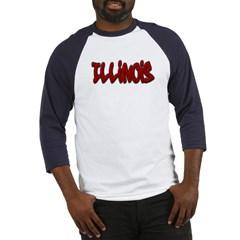 Illinois Graffiti Baseball Jersey T-Shirt