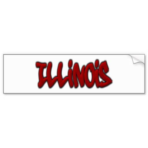 Illinois Graffiti Bumper Sticker