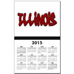 Illinois Graffiti Calendar Print