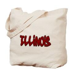 Illinois Graffiti Canvas Tote Bag