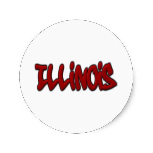 Illinois Graffiti Classic Round Sticker