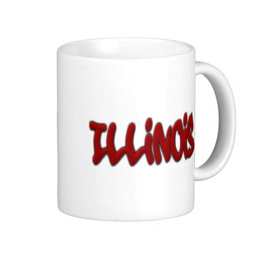 Illinois Graffiti Classic White Mug