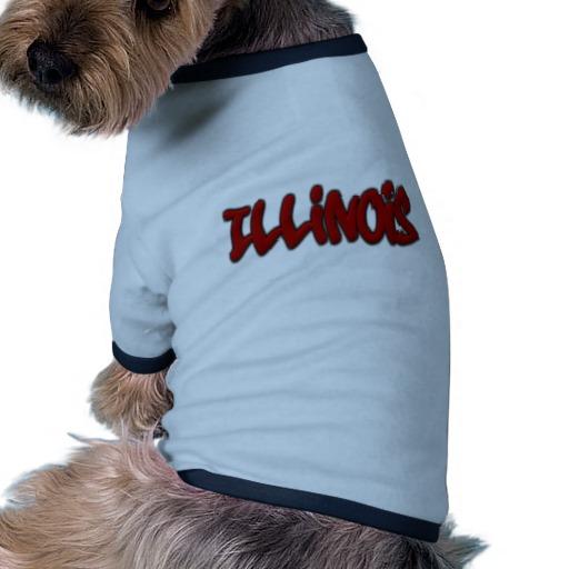 Illinois Graffiti Doggie Ringer T-Shirt