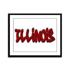 Illinois Graffiti Framed Panel Print