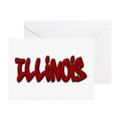 Illinois Graffiti Greeting Card