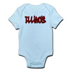 Illinois Graffiti Infant Bodysuit