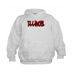 Illinois Graffiti Kids Sweatshirt by Hanes