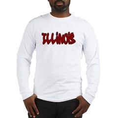 Illinois Graffiti Long Sleeve T-Shirt