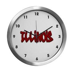 Illinois Graffiti Modern Wall Clock